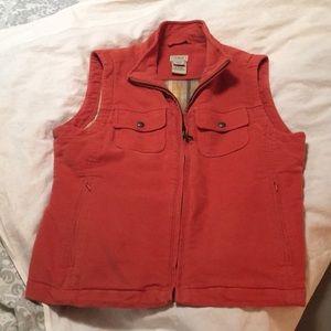 L.L. Bean flannel-lined vest